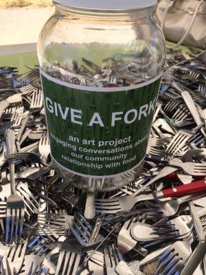 """Artist Talk: What It Means To """"Give A Fork"""" with Gioia Fonda"""