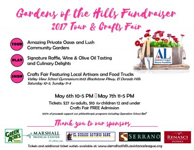 Gardens of the Hills Fundraiser 2017 Tour and Crafts Fair