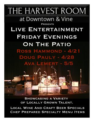 Live Music On The Patio at Downtown & Vine