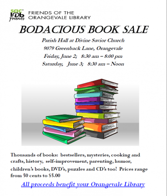 Friends of the Orangevale Library Bodacious Book Sale
