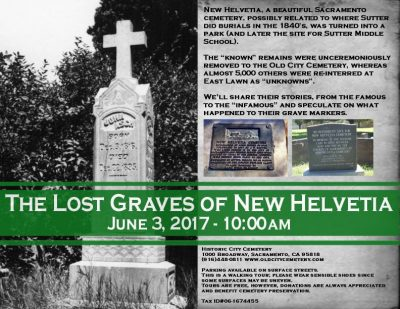 The Lost Graves of New Helvetia