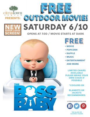 Citrus Town Center Outdoor Movie Night: The Boss Baby