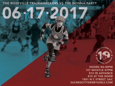 Donna Party vs. Roseville TrainWreckers: Sacred City Derby Girls