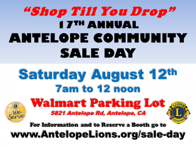 17th Annual Antelope Lions Community Sale Day