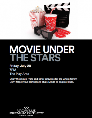 Movie Under the Stars at Vacaville Premium Outlets