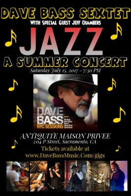 The Dave Bass Sextet with Jeff Chambers