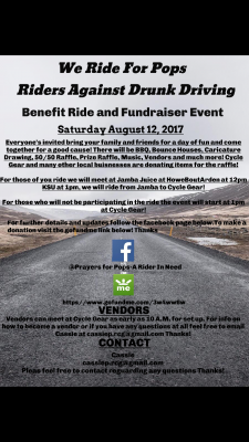 We Ride For Pops: Riders Against Drunk Driving