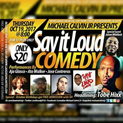 Say It Loud Comedy Show (October)