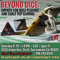 Beyond Dice: Improv For Role Playing And Table Top Gaming