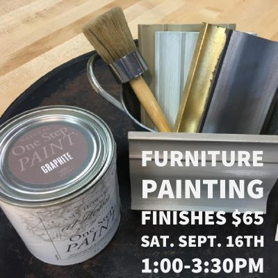 Furniture Painting Finishes Workshop