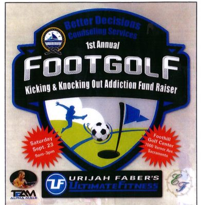 Kicking and Knocking Addiction Charity Footgolf Tournament