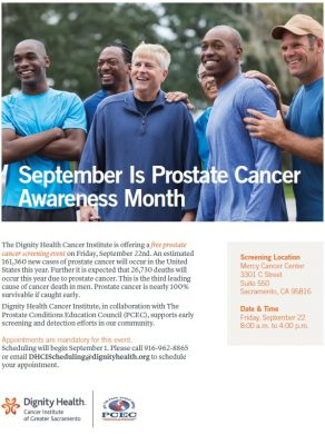 Free Prostate Cancer Screening Event