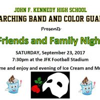 Friends and Family Night: John F. Kennedy High School Band and Color Guard Fundraiser