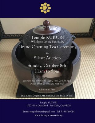 Temple KUKURI Grand Opening Tea Ceremony and Silent Auction