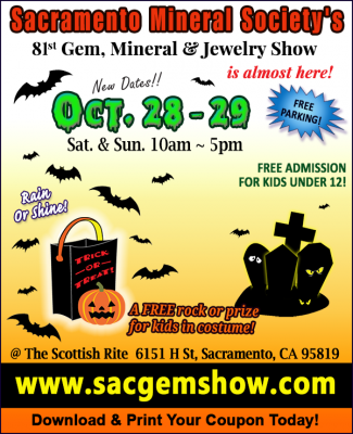 81st Annual Sacramento Gem, Mineral and Jewelry Show