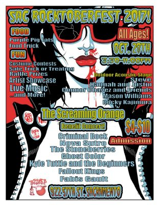 Sac Rocktoberfest: Screaming Orange Benefit Concert