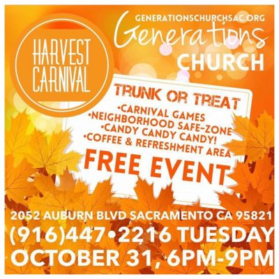 Generations Church Trunk-or-Treat and Harvest Carnival