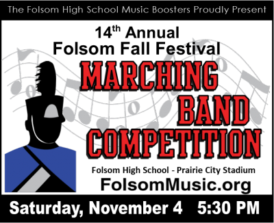 Folsom Fall Festival Marching Band Competition