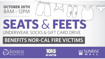 Seats and Feets: Undergarments, Socks, and Gift Card Drive