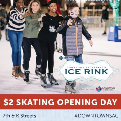 Downtown Sacramento Ice Rink Opening Day