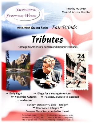 Tributes: Sacramento Symphonic Winds Fall Concert