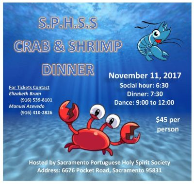 Sacramento Portuguese Holy Spirit Society Crab and Shrimp Dinner