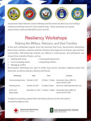 Resiliency Workshops for Veterans and Active Military