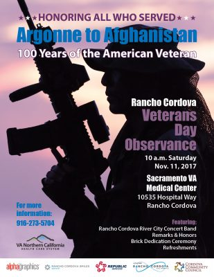 Rancho Cordova Veterans Day Observance
