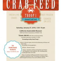 Boy Scout Troop One's Annual Crab Feed 2018