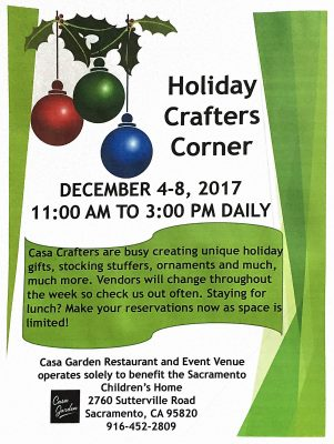 Casa Garden Holiday Crafters Corner