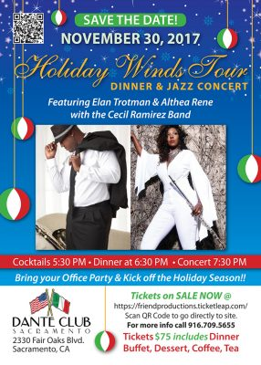 Holiday Winds Tour: Dinner and Jazz Concert