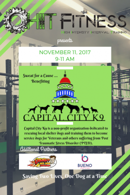 HIIT Fitness Service Dogs and Vets Fundraiser