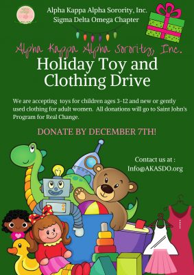 Holiday Toy and Clothing Drive for St. John's