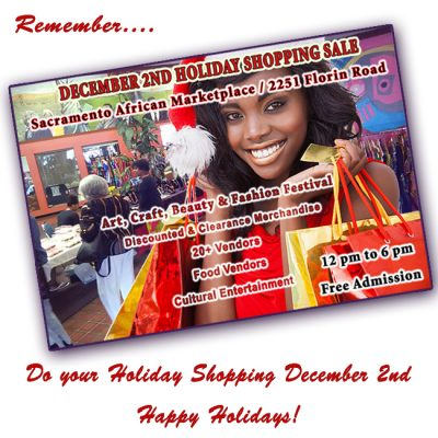 Sojourner Truth Holiday Shopping Sale