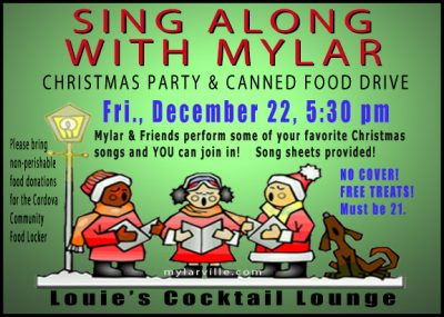 Mylar's Annual Christmas Sing Along and Canned Food Drive
