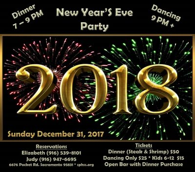 Portuguese Holy Spirit Society's New Year's Eve Party
