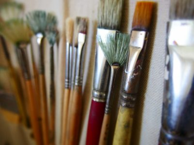 Painting in the Gallery: A Blue Line Arts' Workshop