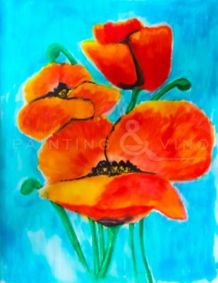 Painting and Vino: Red Poppies