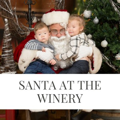 Pictures with Santa at McConnell Estates Winery