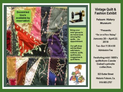 Vintage Quilt & Fashion Exhibit