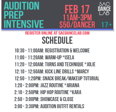 Pro Dance Audition Prep Intensive