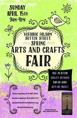 Historic Folsom's Spring Arts and Crafts Fair