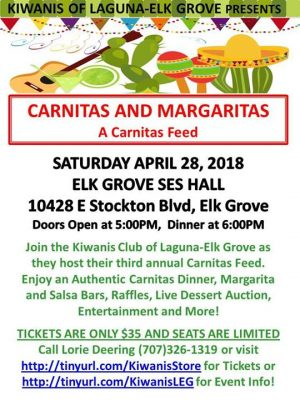 Annual Carnitas and Margaritas Feed: Kiwanis Club ...