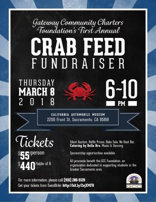 Gateway Community Charters Foundation's First Annual Crab Feed Fundraiser