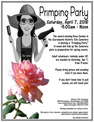 Sacramento Historic City Cemetery Primping Party