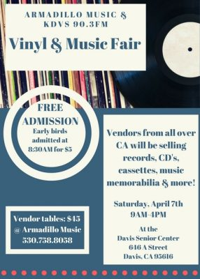 Armadillo Music and KDVS Vinyl and Music Fair