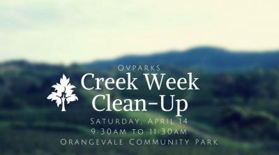 Creek Week Clean-Up and Wrap Celebration
