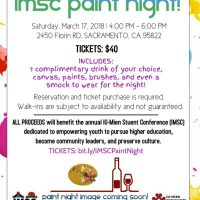 Iu-Mien Student Conference Wine and Paint Night Fundraiser