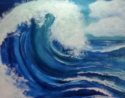 Painting and Vino: Making Waves