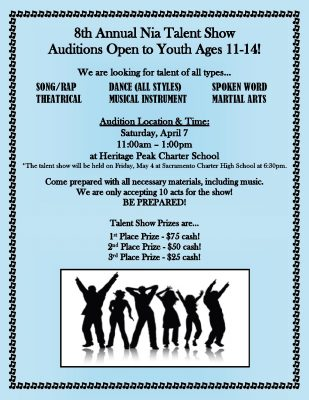 Sisters of Nia: Youth Talent Show Auditions